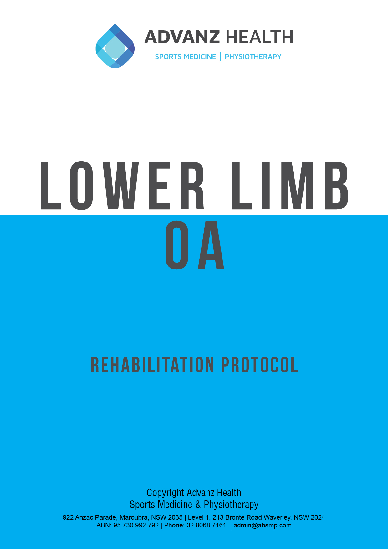 Lower limb OA tile
