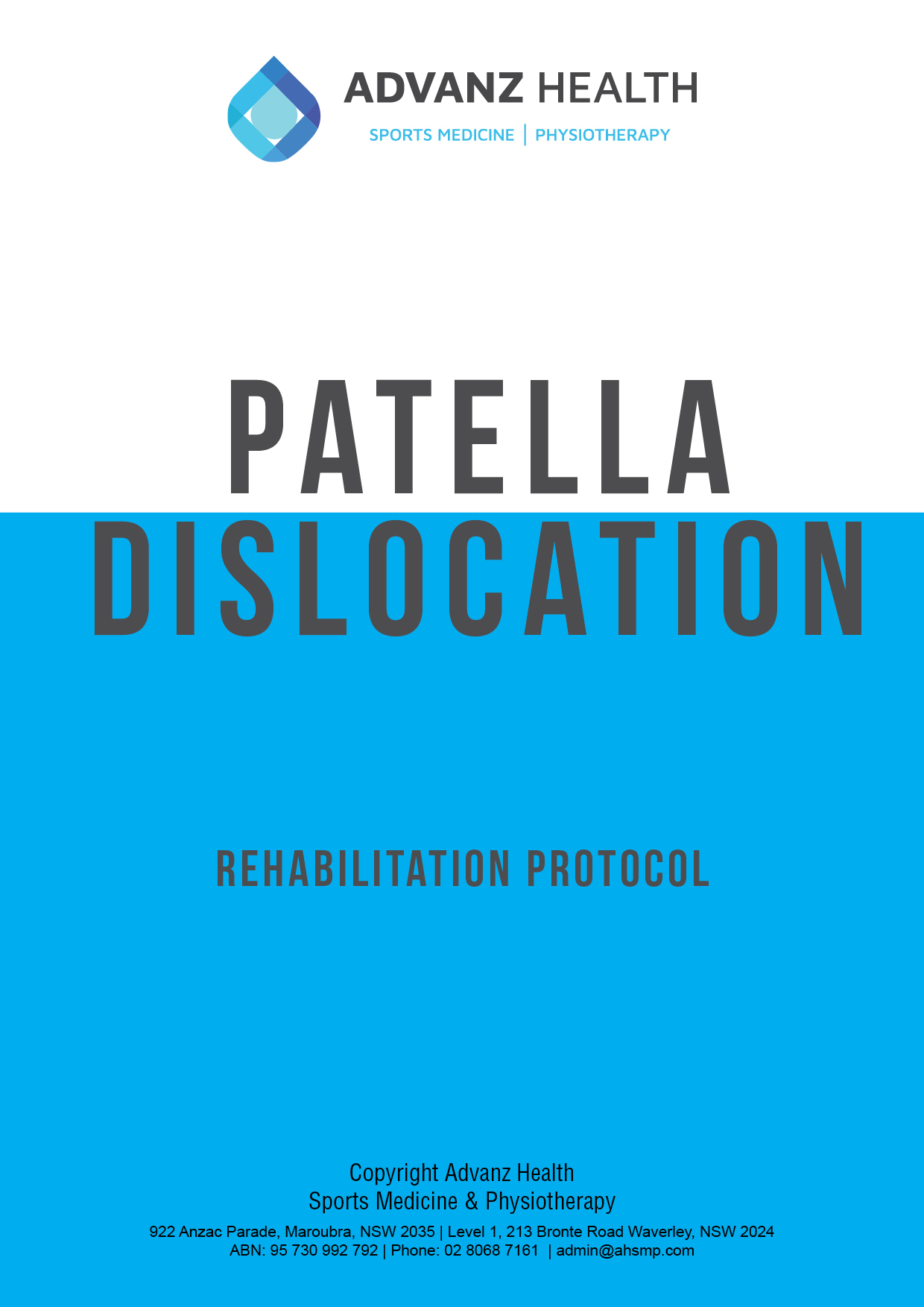Patella dislocation cover image